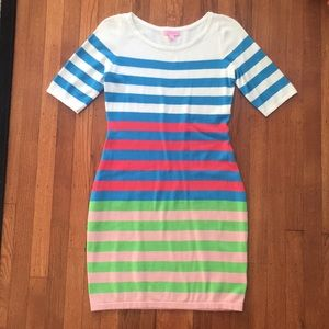 Lilly pulitzer sample knit stripe dress medium euc